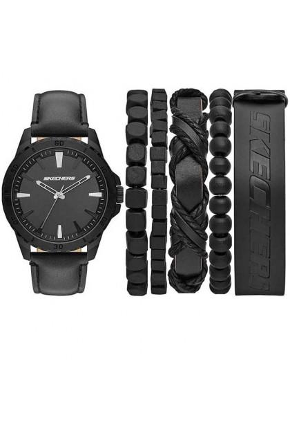 Skechers Original Analog / Digital Silicone Strap Men and Women Watch+ Bracelets Gift Set